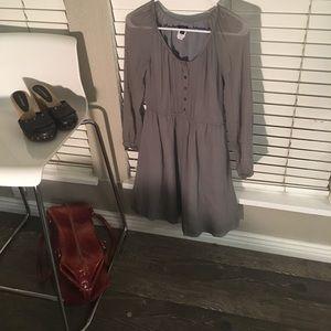 J Crew Gray Size S %100 silk dress