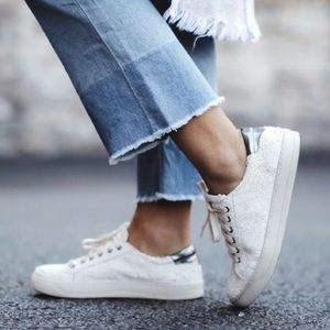 Textured Leather Sneakers