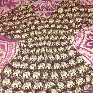 Elephant Print S Forever 21 Romper