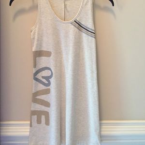 Old Navy oatmeal colored LOVE tank top