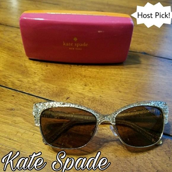 c7d49ba11723 kate spade Accessories | Sale Spade Gold Shira Sunglasses | Poshmark
