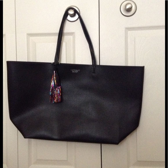 Victoria S Secret Bags Nwt Victorias Secret Black Tote Bag With