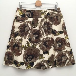 J. Crew Watercolor Floral Print Skirt EUC 8