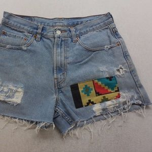 Urban Outfitters Distressed Denim Cut Off Shorts