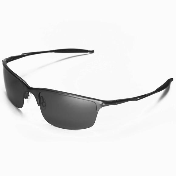 9a8e3a9422 NEW IN BOX Oakley Half Wire XL Black Sunglasses