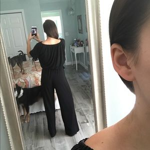 Tiana B. Pants - Comfy black jumpsuit!