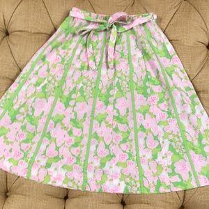 ⭐️Lilly Pulitzer Liza vintage skirt pink & green