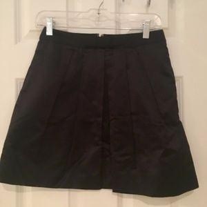 Black Silk Full Skirt