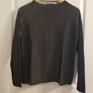 Zara Knit black and white high neck sweater sz S