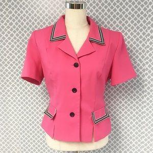 Vintage 80s Hot Pink Miss Dorby Blazer