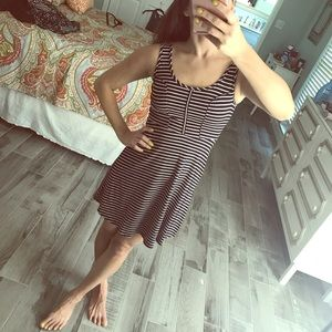 Xhilaration Dresses - Black and white stripe dress