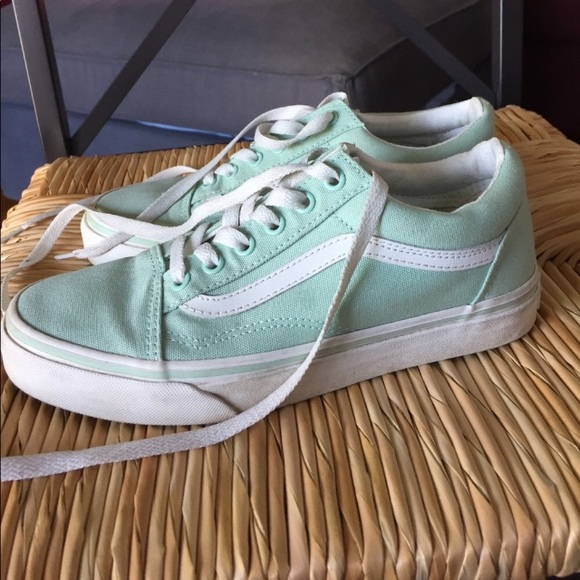 ad9443d3 Vans old skool pastel mint green NWT