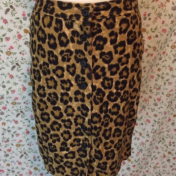 eff6754d4d Lauren Ralph Lauren Skirts | Ralph Lauren Leopard Print Pencil Skirt ...