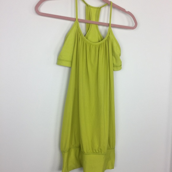 Split pea green or yellow dresses