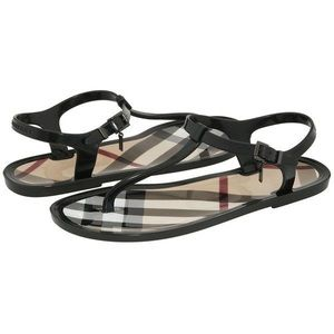 BURBERRY JELLY THONG SANDALS 39