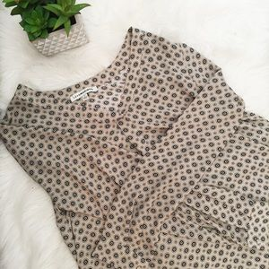 Lex&Madison Taupe patterned Blouse
