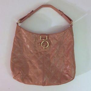 J. Crew Blush / Rose Patent Leather Shoulder Bag