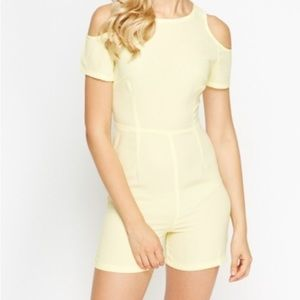 Dresses & Skirts - Yellow Cold shoulder playsuit, jumper. Brand new.