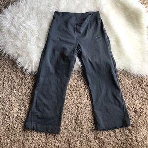 Adidas straight leg cropped workout pants