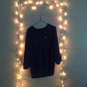 medium dark blue blouse