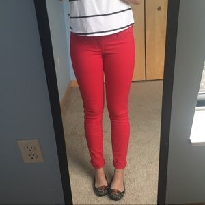 Red Hollister Skinny Jeans