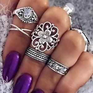 Jewelry - Bohemian 5 stack ring set