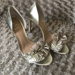 Banana Republic Shoes - Gold Banana Republic Fringe Pumps
