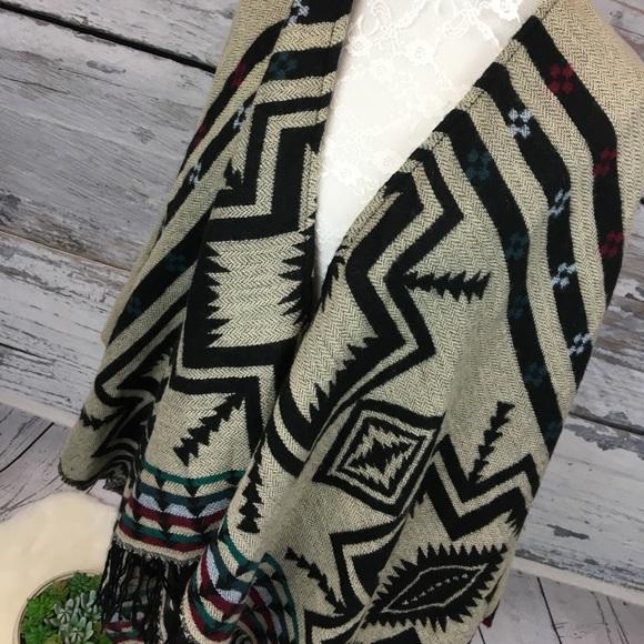 bf09da14d2283 Woven Heart Sweaters   Blanket Aztec Tribal Fringe Poncho Sm   Poshmark