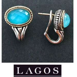 LAGOS Caviar Faceted Crystal Statement Earrings