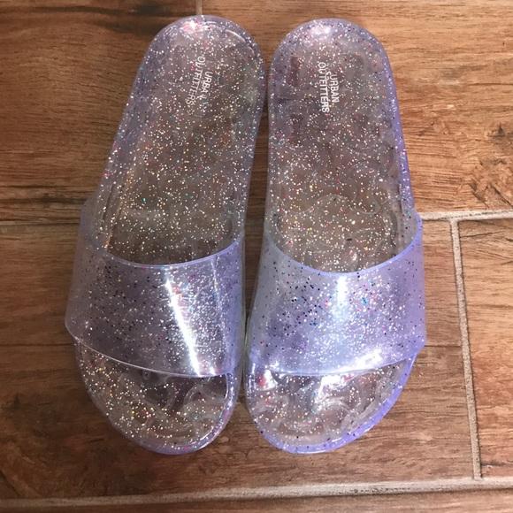 ea73572a0ac0 UO Glitter Jelly Slides. M 597241543c6f9f3f4e018116