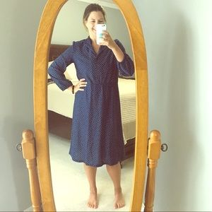 Dresses & Skirts - Vintage Blue and White Dress