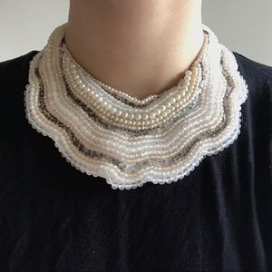 Jewelry - Vintage Japanese Pearl Bib Necklace