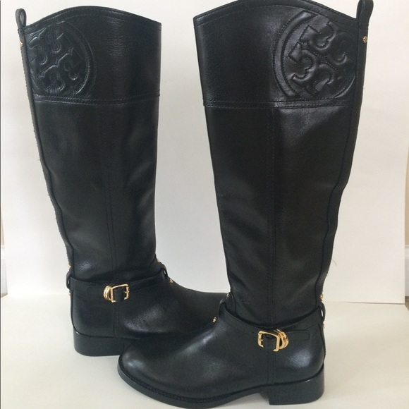 5cb9484c8b4 New Tory Burch Marlene Black Leather Boots 5. M 59724d6e3c6f9f8a3301aeb1
