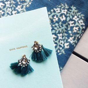 Jewelry - Crystal & Tassel Earrings
