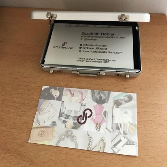 Kikkerland accessories rfid business card holder mini briefcase rfid business card holder mini briefcase nwt colourmoves