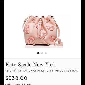 Kate Spade Grapefruit Mini Bucket Bag