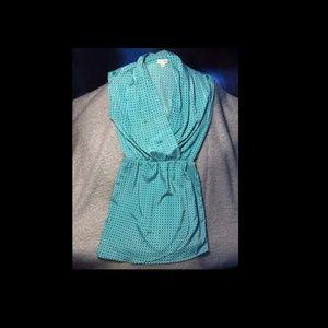 Maison Jules Kelly Green Wrap Dress