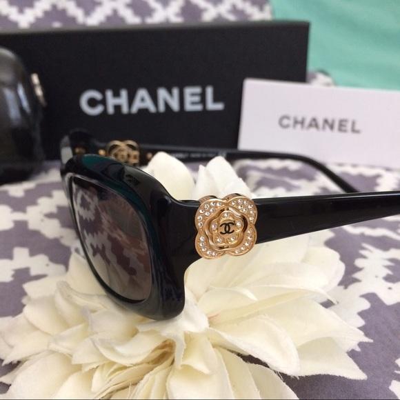 e3c69059db9 CHANEL Accessories - Authentic Chanel sunglasses Gold Camellia Flower