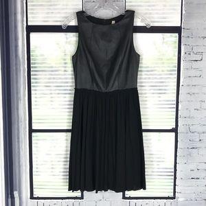 BAILEY 44 Black Faux Leather Sheath Dress