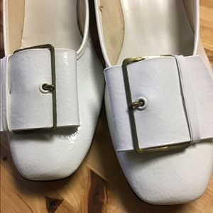 Vintage in box white hi brows shoes size 6 1/2 W