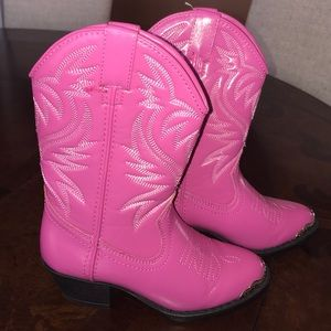 0559ae9dca4 New Girls Pink Cowboy Western Smoky Boots 13