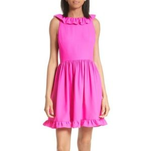 NWT Kate Spade ruffle back mini dress