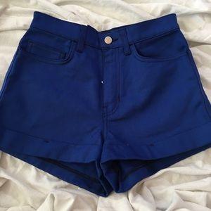 NWT cobalt blue high waisted shorts