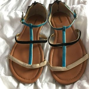 Blue and Black Torrid Sandals Size 8