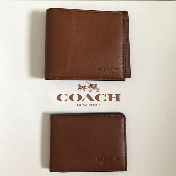 dbf3ea6bc0287 NWT Coach F64118 Saddle Brown Leather Wallet