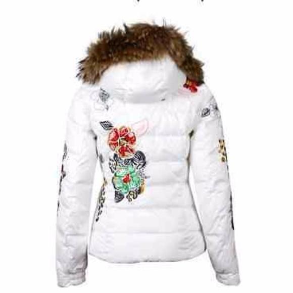 auf Füßen Aufnahmen von noch nicht vulgär neue Version Bogner Fire+Ice Embroidered White Ski Jacket