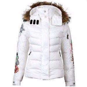 58aecee581b Bogner Jackets   Coats - Bogner Fire+Ice Embroidered White Ski Jacket