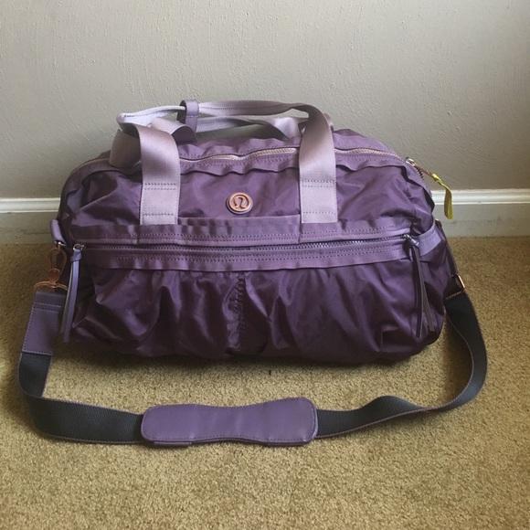 3810406ecfd lululemon athletica Handbags - Lululemon Gym To Win Duffel Gym Bag Purple  Fog