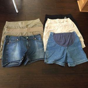 Bundle of maternity shorts