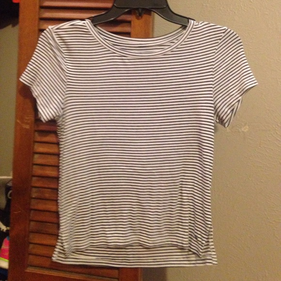 a665178e American Eagle Outfitters Tops | Black And White Striped Shirt From ...